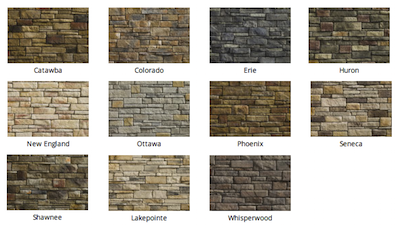 Dry Stack Stone colors by Heritage Stone