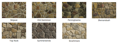 Fiedstone Stone colors by Heritage Stone