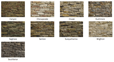 Ledgestone Stone colors by Heritage Stone